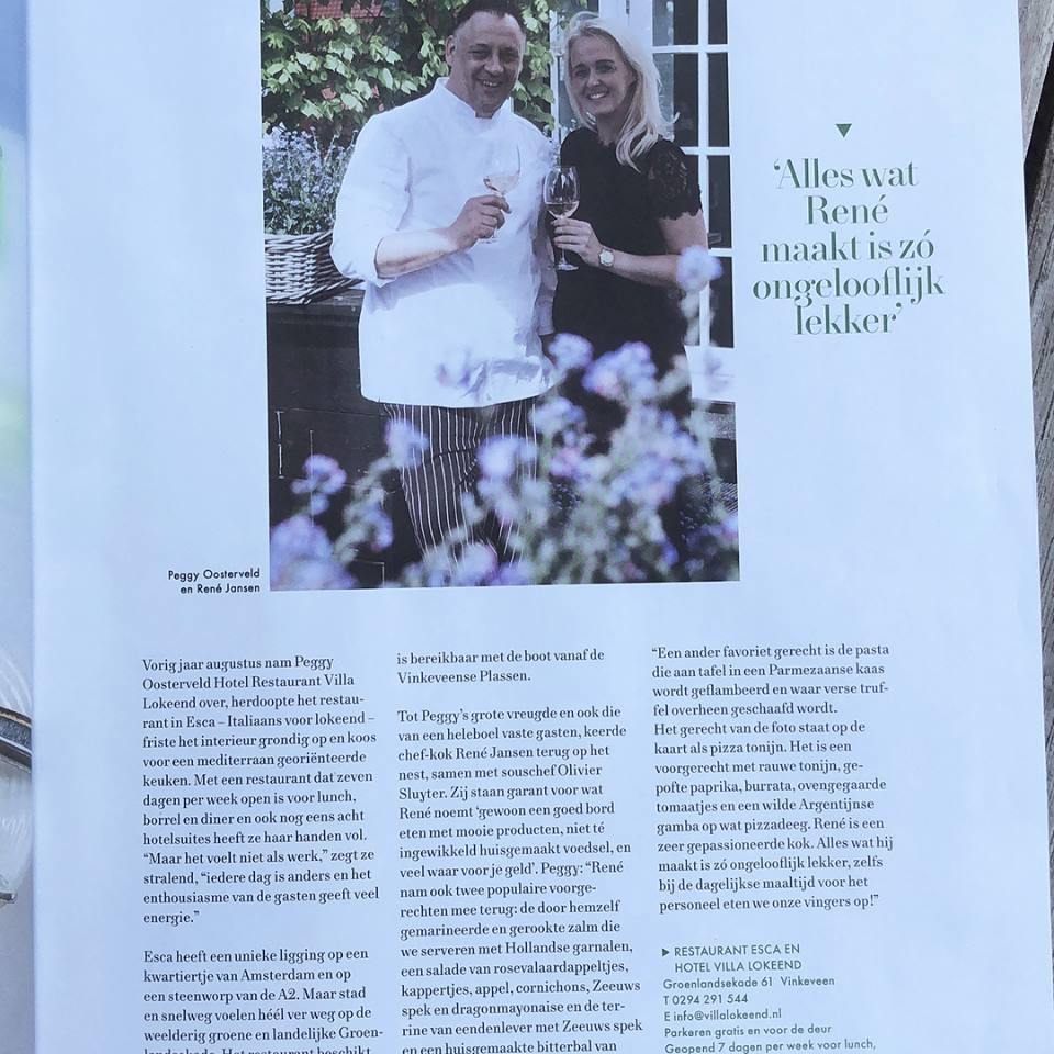 Restaurant Esca In Uit Magazine
